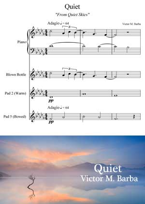 ID71111_Quiet_Score By Victor M. Barba with sheet music in PDF score and a video tutorial in songnes.com
