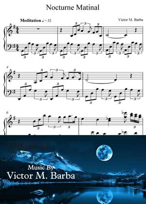 ID71115_Nocturne_Matinal By Victor M. Barba with sheet music in PDF score in songnes.com