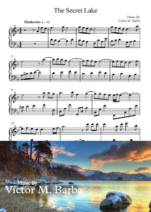 ID71116_The_Secret_Lake By Victor M. Barba with sheet music in PDF score in songnes.com