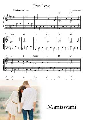ID71117_True_Love By Mantovani with sheet music in PDF score in songnes.com