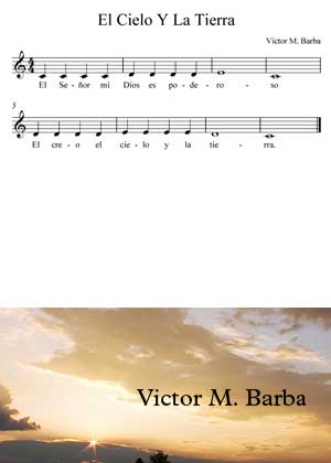 El Cielo Y La Tierra By Victor M. Barba con partitura musical en PDF y video tutorial