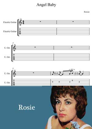 Angel Baby By Rosie with sheet music in PDF and video tutorial