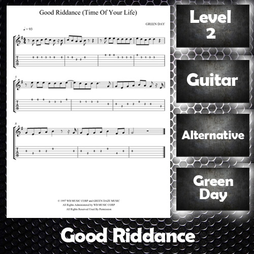 Sheet Music Good Riddance by Green Day