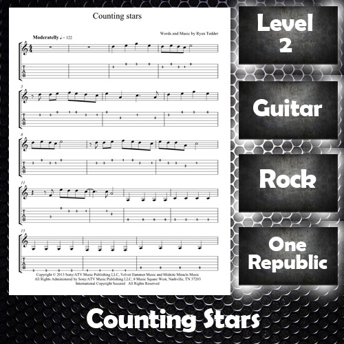 Sheet Music Counting Stars by One Republic