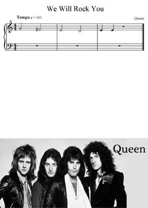 We Will Rock You By Queen