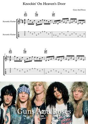 Knockin' On Heaven's Door By Guns And Roses