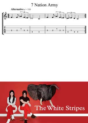 Seven Nations Army By The White Stripes With Sheet Music PDF