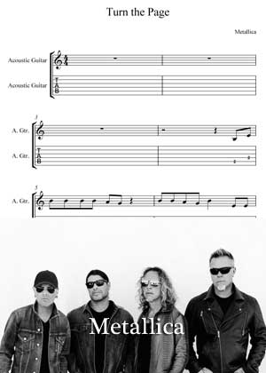 Turn The Page By Metallica with sheet music in PDF and video tutorial