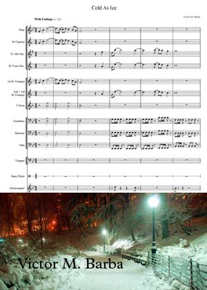 Cold As Ice By Victor M. Barba with sheet music in PDF