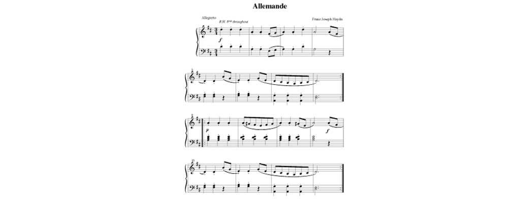 Allemande By Joseph Haydn
