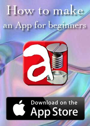 App How to make an App for Beginners by Victor M Barba download in Apple Store and Google Play
