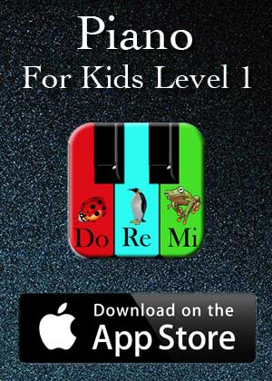 App Piano For Kids Level 1 by Victor M Barba download in Apple Store and Google Play