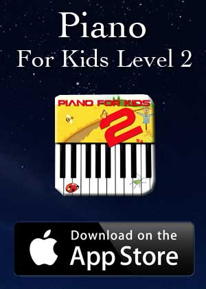 App Piano For Kids Level 2 by Victor M Barba download in Apple Store and Google Play