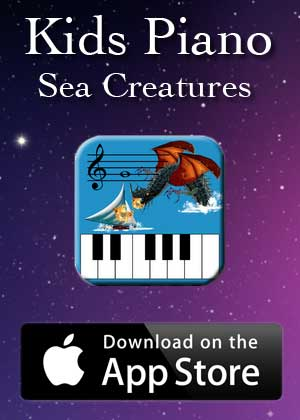 App Kids Piano Sea Creatures by Victor M Barba download in Apple Store and Google Play