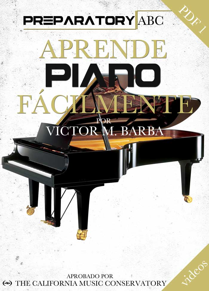 Aprende Piano Facilmente - Preparatorio ABC Portada del Libro
