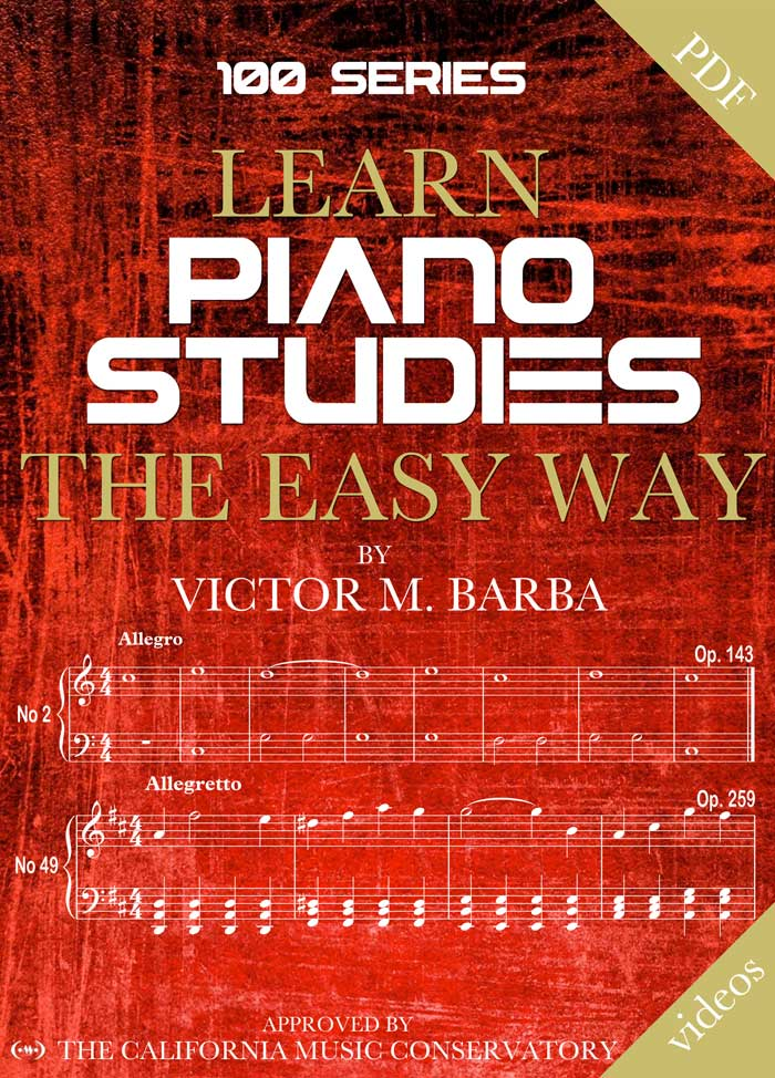 Learn Piano Studies The Easy Way – 100 Series Cover Book