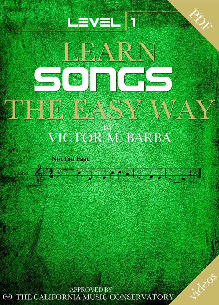 Learn Songs The Easy Way – 20 Songs Level 1