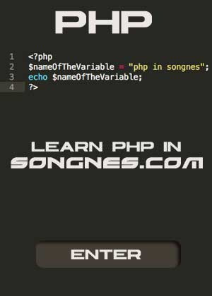 Learn php in songnes.com