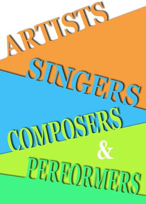 Artists, Singers, Composers and Performers Card