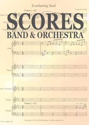 Full Scores for Band And Orchestra card