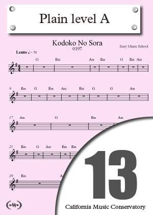 Card for level 1 in songnes.com by the California Music Conservatory
