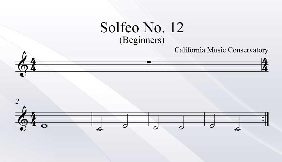 Solfeo No. 12