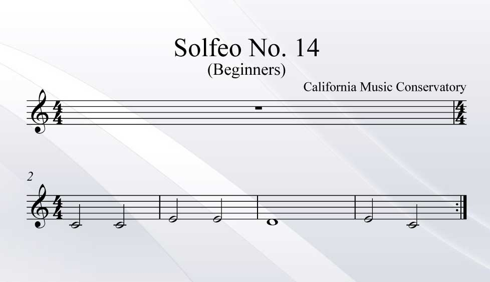 Solfeo No. 14