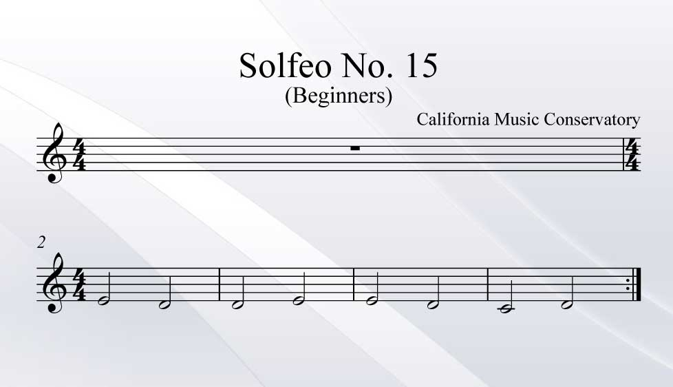 Solfeo No. 15