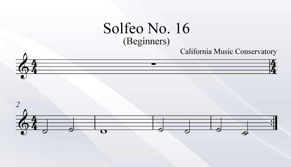 Solfeo No. 16