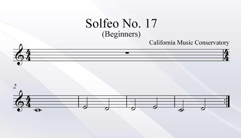 Solfeo No. 17