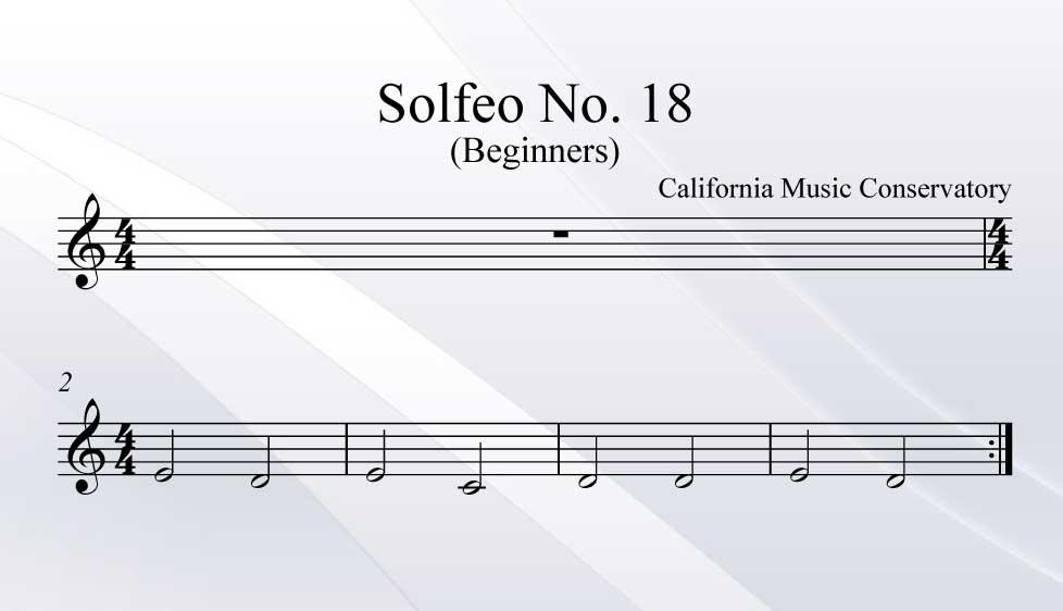 Solfeo No. 18