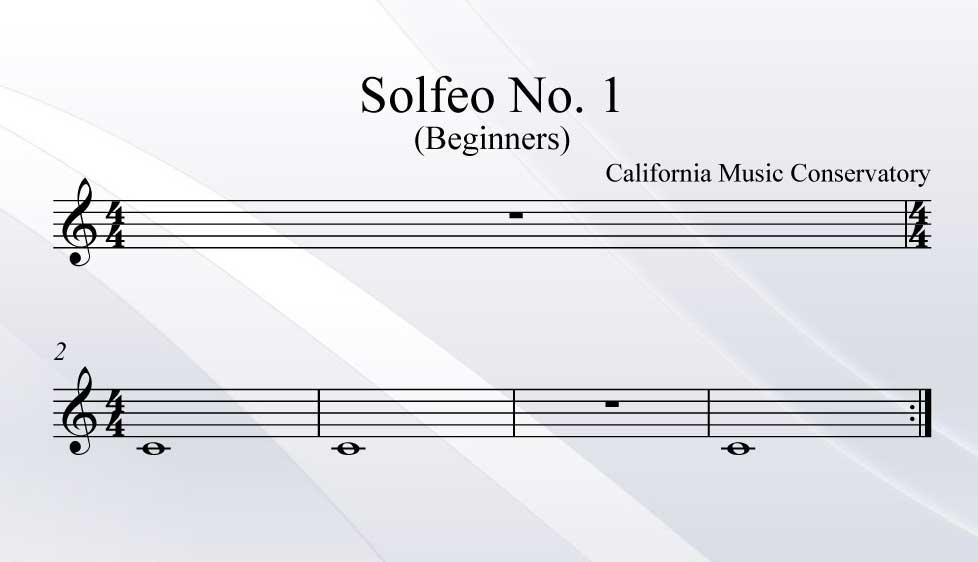 Solfeo No. 1