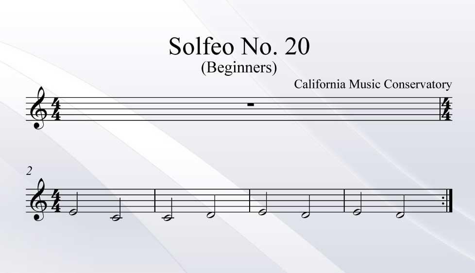 Solfeo No. 20
