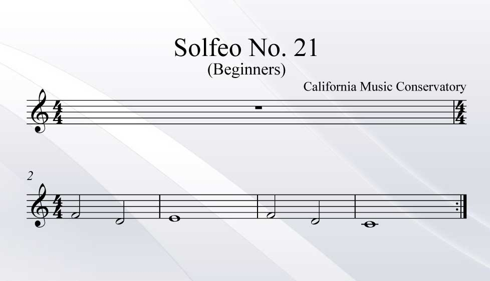 Solfeo No. 21