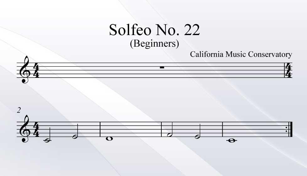 Solfeo No. 22