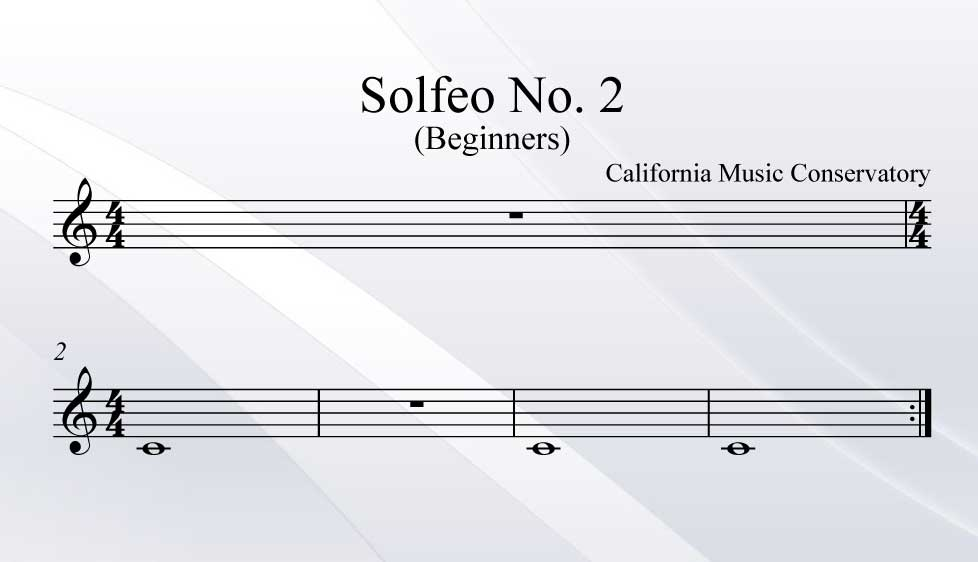 Solfeo No. 2