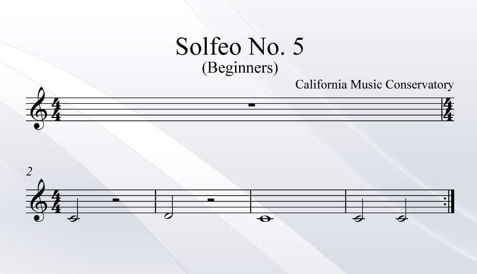 Solfeo No. 5