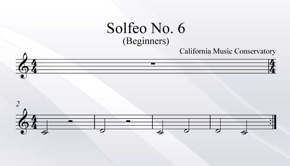 Solfeo No. 6