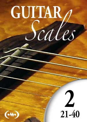 Learn to play guitar scales, with video tutorials, and sheet music PDF, in simple guitar lessons, Lesson 21 to 40