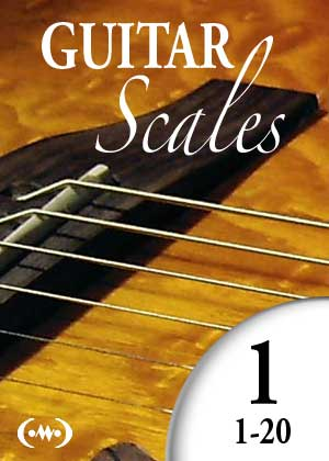 Learn to play guitar scales, with video tutorials, and sheet music PDF, in simple guitar lessons, Lesson 1 to 20